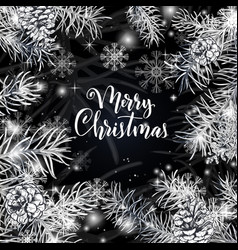 elegant christmas black background vector image
