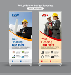 Energy and construction roll up banners vector