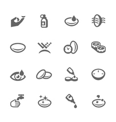 Eye lens icons vector