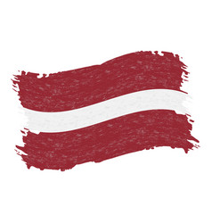 flag of latvia grunge abstract brush stroke vector image