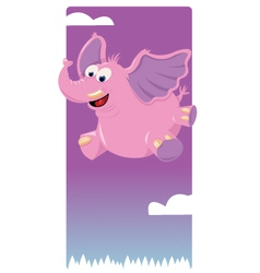 Funny Pink Elephant vector
