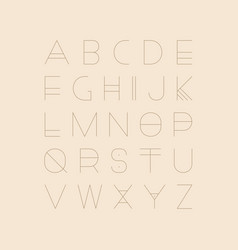 futuristic font - minimalistic design vector image
