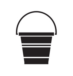 Garden bucket icon vector