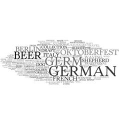 German word cloud concept vector