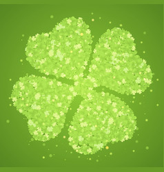green four-leaf clover vector image