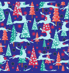 happy new year background with firs xmas trees vector image