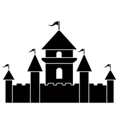 isolated castle icon vector image
