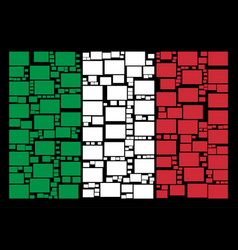 italy flag collage of filled rectange icons vector image