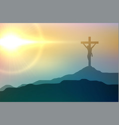 Jesus christ crucifixion scene for good friday vector