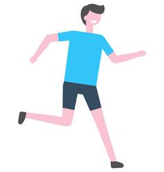 jogging person cartoon character marathon vector image
