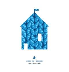 Knit sewater fabric horizontal texture house vector