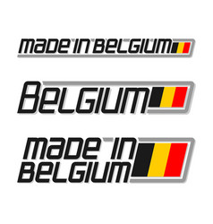 Made in belgium vector