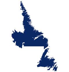 Map newfoundland and labrador in blue colour vector