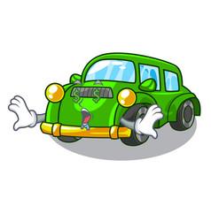 Money eye classic car toys in cartoon shape vector