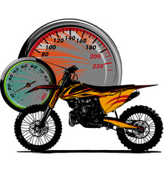 Motocross rider ride the motocross vector