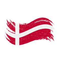 National flag of denmark designed using brush vector