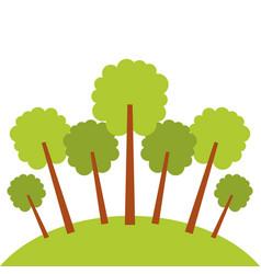 natural trees forest garden park landscape ecology vector image