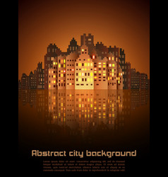 night city abstract background vector image