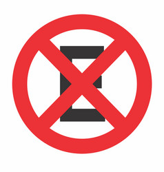 no stop and parking sign vector image