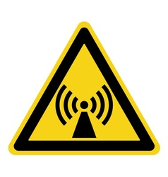 non ionized radiation sign vector image
