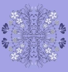 Ornament floral pattern circular purple vector