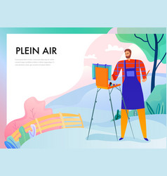 plein air painting vector image
