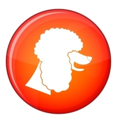 Poodle dog icon flat style vector image
