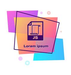 Purple js file document download js button icon vector