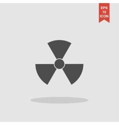 radiation symbol Flat design style vector image