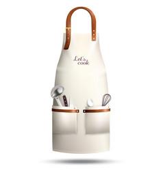 Realistic cook apron vector