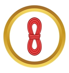 Red rope icon vector