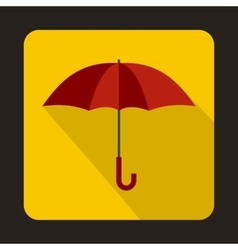 Red umbrella icon in flat style vector image