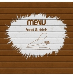 restaurant menu paint on wooden background vector image