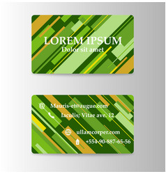 Rough strokes business card with abstract vector