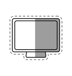 screen computer system device line shadow vector image