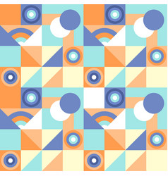 seamless geometric colorful pattern with vector image