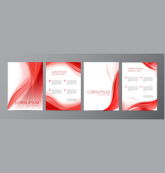 Set of wavy abstract covers brochures vector
