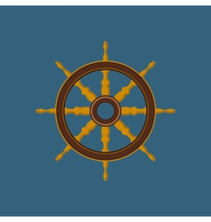 Ships wheel ship equipment vector