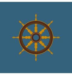 Ships Wheel Ship Equipment vector