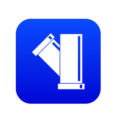 Tee fitting pipe icon digital blue vector