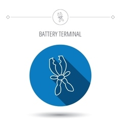 Terminal electrical icon Charging the battery vector image