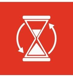The hourglass icon Clock symbol vector image