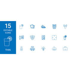Thin icons vector