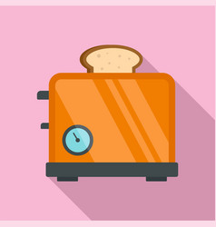 timer toaster icon flat style vector image