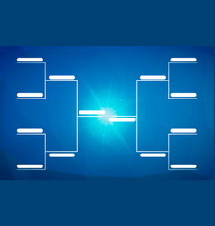 tournament bracket template for 8 teams on blue vector image
