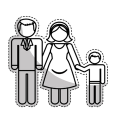 traditional family icon image vector image