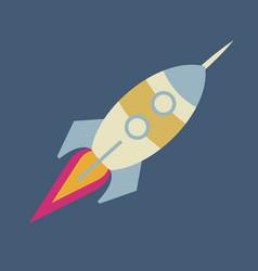 upward rocket with round window vector image