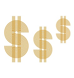 US dollar sign vector image