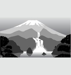 Volcano vector image