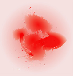 watercolor red background vector image